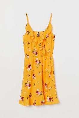 7013210b0f Zavinovacie šaty s volánmi