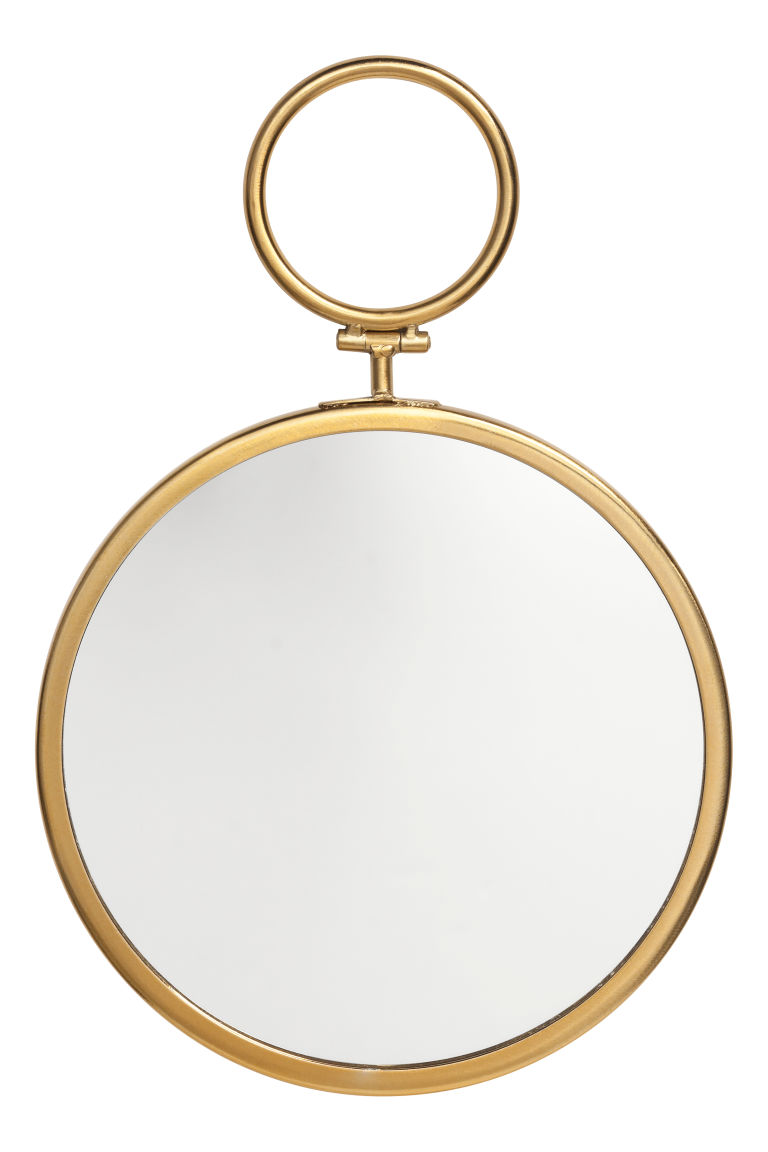 Round mirror - Gold-coloured - Home All | H&M IE