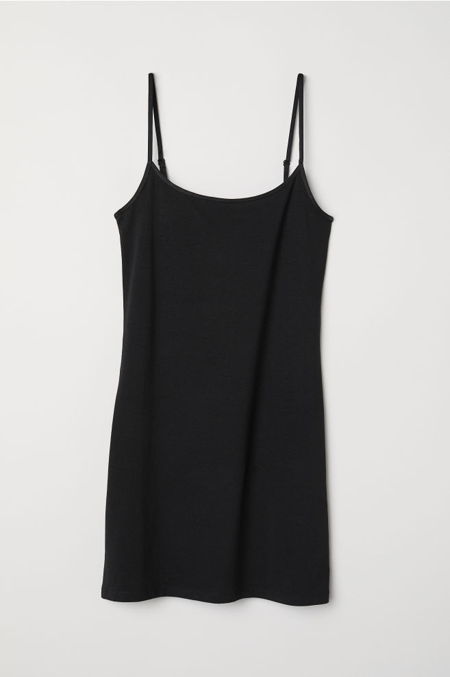 a60970ca94457 Long Jersey Camisole Top - Black - Ladies