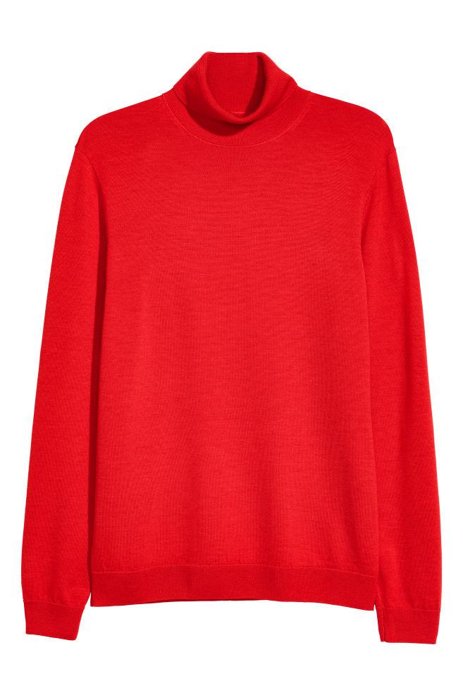 dcfa1491bd32 Merino Wool Turtleneck Sweater - Bright red - Men