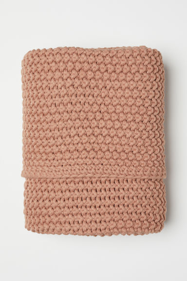 Moss-stitched blanket - Apricot - Home All | H&M CN