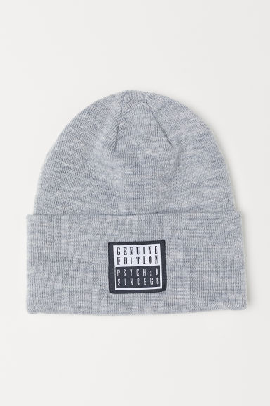 Fine-knit hat - Light grey marl -  | H&M