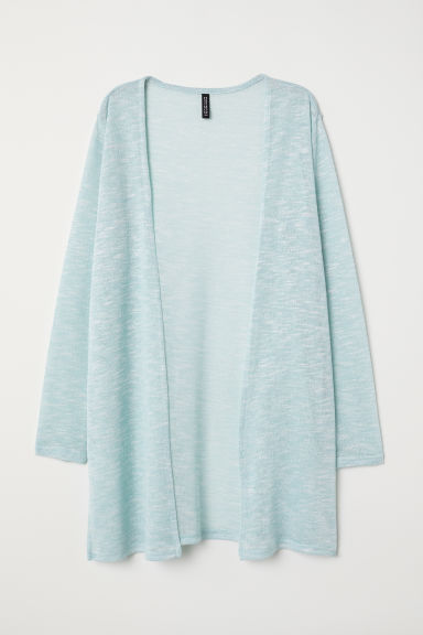Cardigan in maglia fine - Turchese mélange - DONNA | H&M IT