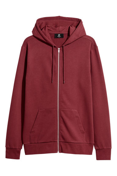 Sweat à capuche Regular fit - Rouge foncé - HOMME | H&M FR
