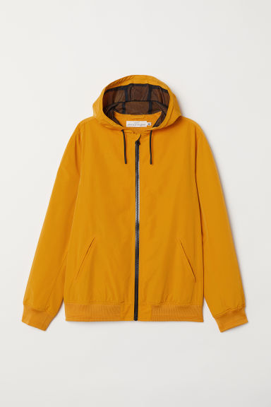 Windbreaker - Dark yellow - Men | H&M CN