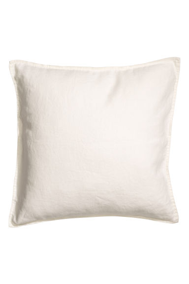 Washed linen cushion cover - White - Home All | H&M CN