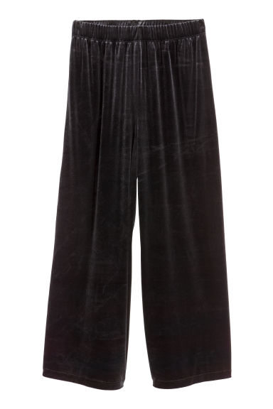 Velour culottes - Black - Ladies | H&M