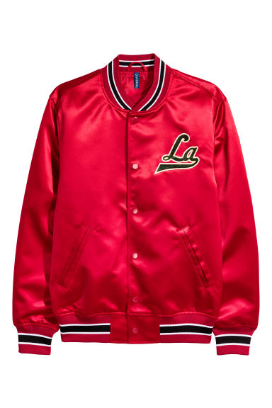 Embroidered baseball jacket - Red/LA -  | H&M GB