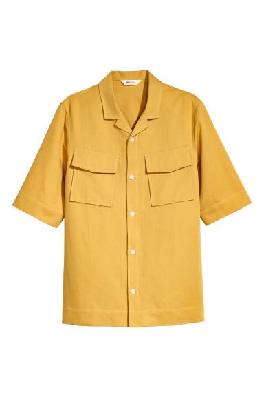 Short-sleeved resort shirt - Dark yellow - Men | H&M