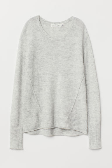 Knit Sweater - Light gray melange - Ladies | H&M US