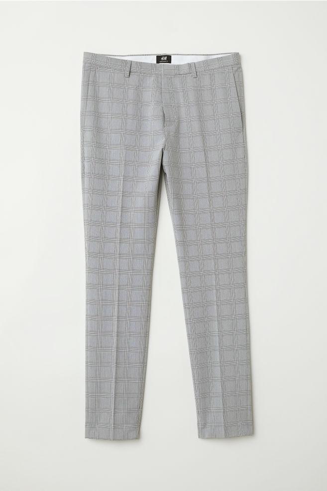 Suit Pants Super Skinny Fit Beigechecked Men Hm Us