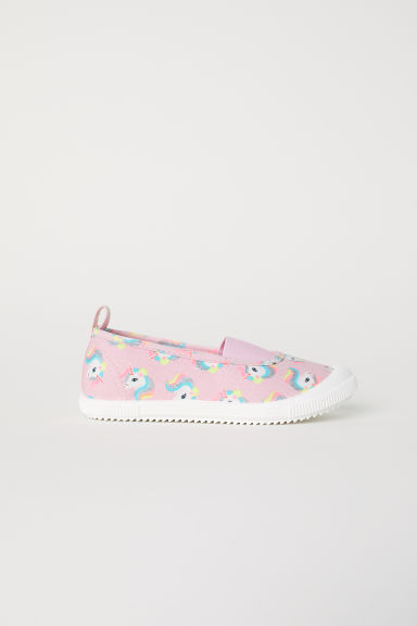 Patterned trainers - Light pink/Unicorns - Kids | H&M CN