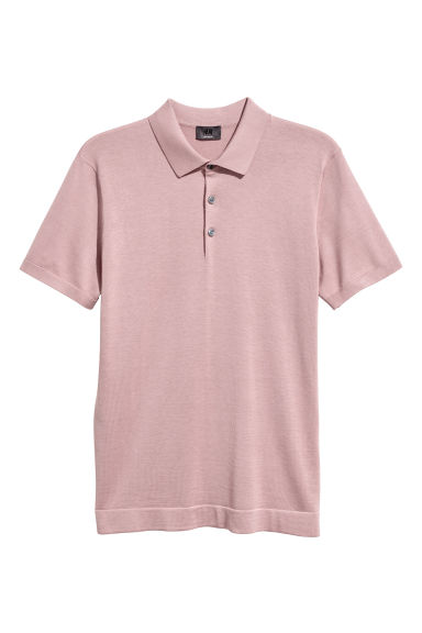 Silk-blend Polo Shirt - Dusky pink - Men | H&M US