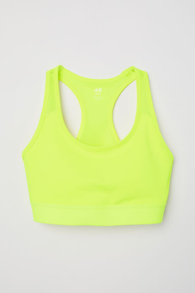 Sports bra High support - Neon yellow - Ladies | H&M CN