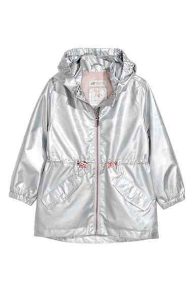 Shimmering metallic parka - Silver-coloured -  | H&M CN