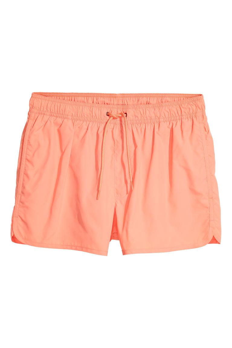 34261b02 Kort badeshorts - Lys oransje - HERRE | H&M NO