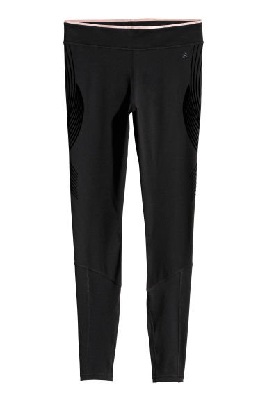 Compression fit running tights - Black - Ladies | H&M CN