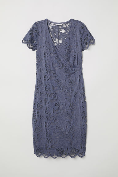 MAMA Lace nursing dress - Pigeon blue - Ladies | H&M CN
