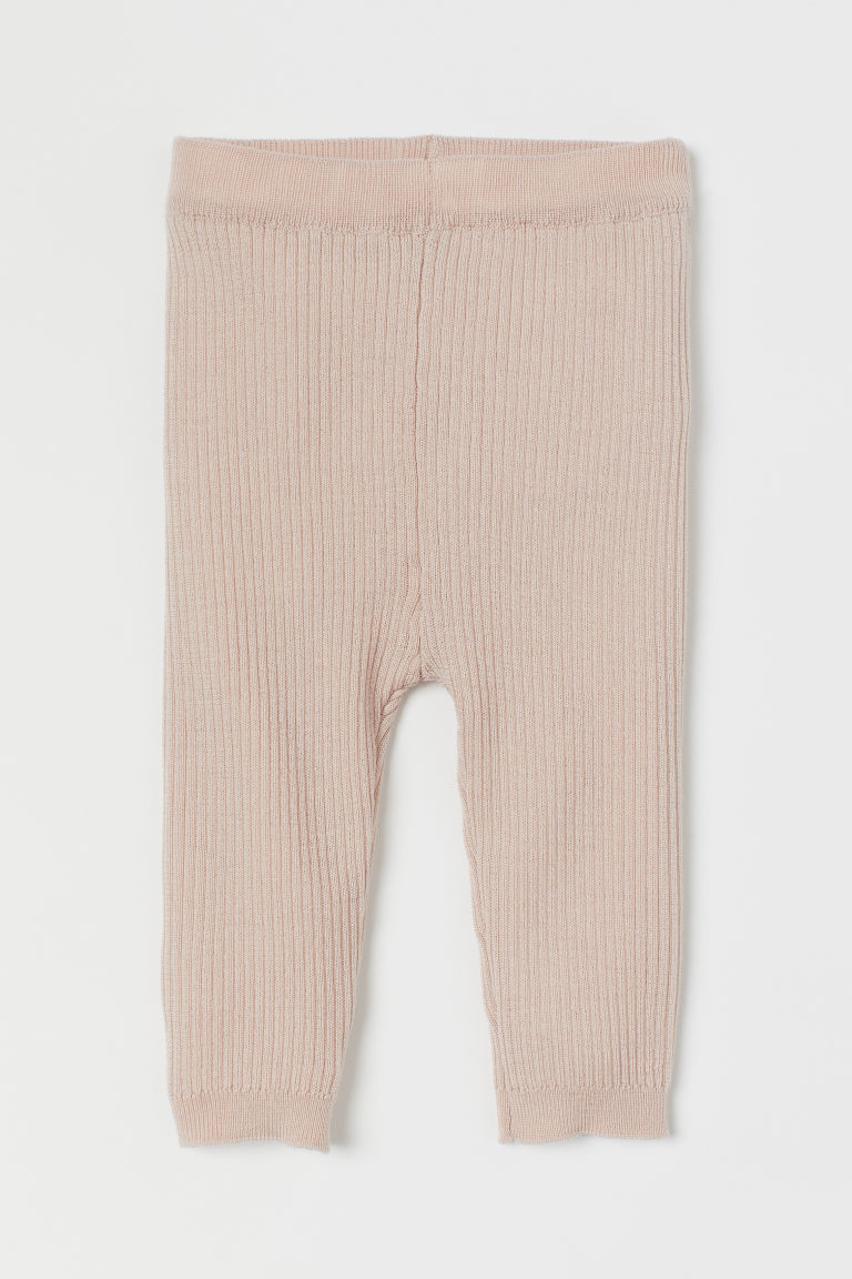Merino wool leggings - Light beige - Kids | H&M