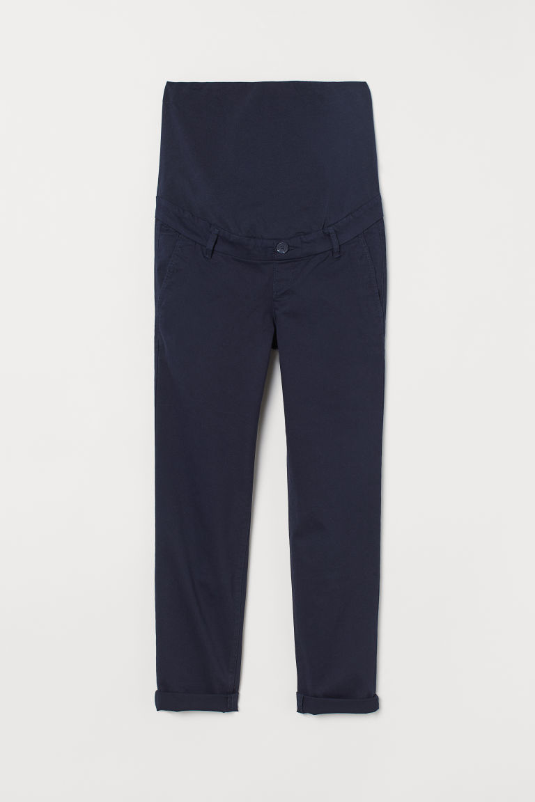 MAMA Cotton chinos - Dark blue - Ladies | H&M