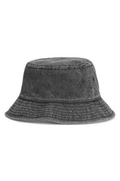 Cotton fisherman's hat - Dark grey -  | H&M IE