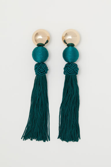 Long earrings - Dark green - Ladies | H&M