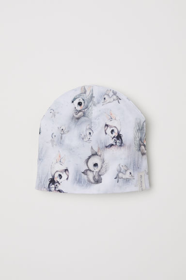 Printed jersey hat - White/Patterned -  | H&M