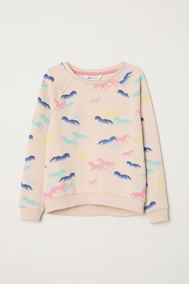 Printed sweatshirt - Powder pink -  | H&M CN