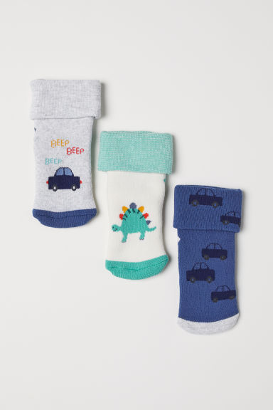 3-pack socks - Blue/Multicoloured -  | H&M