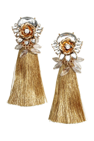 Long earrings - Gold-coloured - Ladies | H&M CN