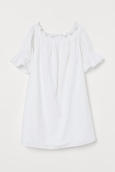 H&M - Off-the-shoulder cotton dress - 1