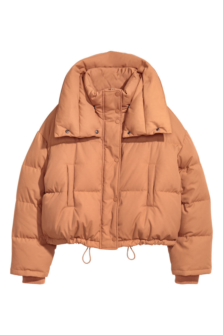Short Down Jacket - Light camel - Ladies | H&M CA