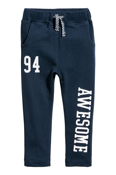 Printed joggers - Dark blue -  | H&M