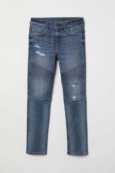 Skinny Fit Biker Jeans - Denim blue - Kids | H&M