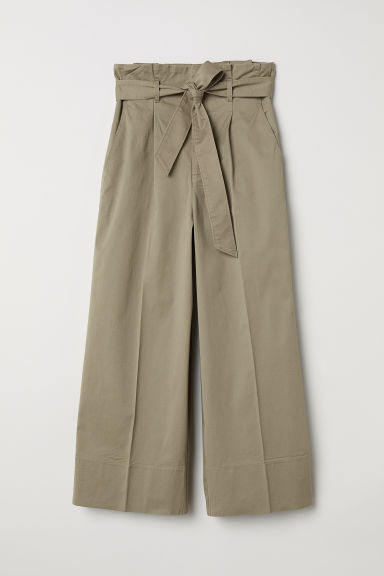 Wide-leg Pants - Beige -  | H&M US