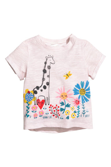 Top in jersey con stampa - Rosa/giraffa - BAMBINO | H&M IT