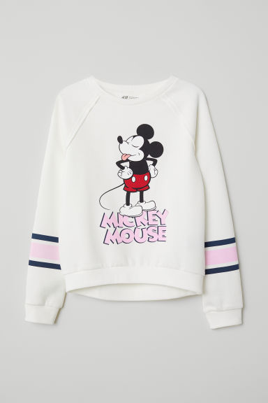 Sweater met motief - Wit/Mickey Mouse - KINDEREN | H&M BE