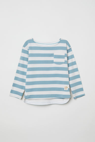 Striped jersey top - Light turquoise/Striped - Kids | H&M