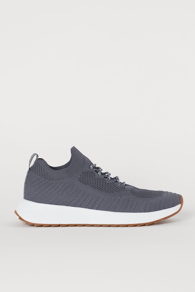 Fully-fashioned trainers - Dark grey - Men | H&M