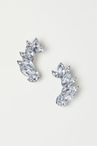 Sparkly earrings - Silver-coloured - Ladies | H&M CN