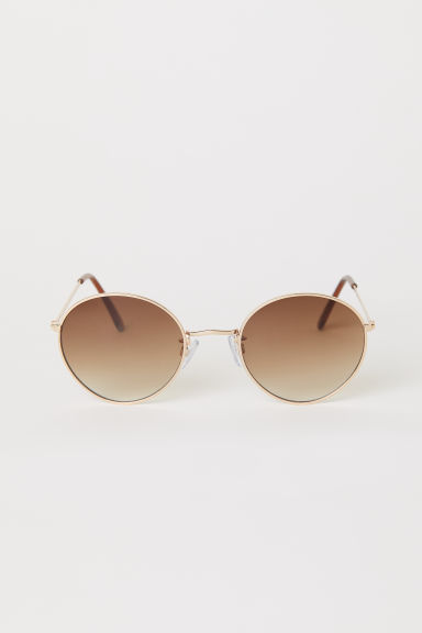 Sunglasses - Gold-colored/brown - Ladies | H&M US