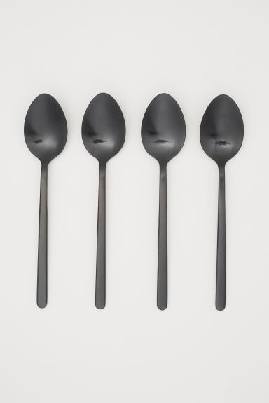 Pack de 4 cucharas - Negro - HOME | H&M ES