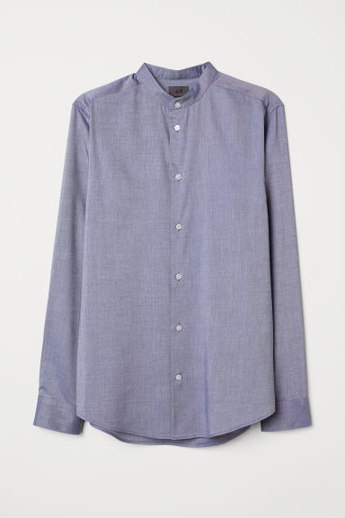 Striped grandad shirt - Blue - Men | H&M IN