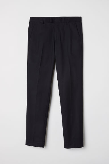 Suit trousers Slim fit - Black - Men | H&M IN