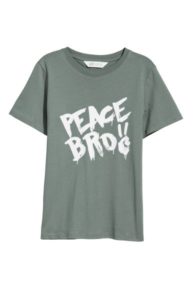 T-shirt con stampa - Grigio/Peace Bro -  | H&M IT