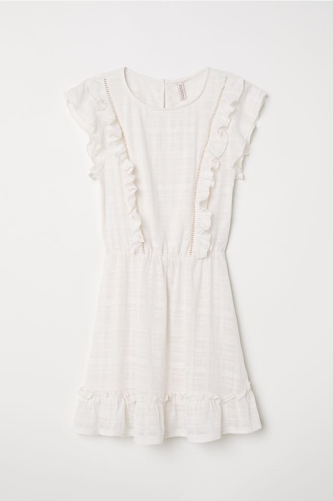 6094ba3ac Vestido con volantes - Blanco -