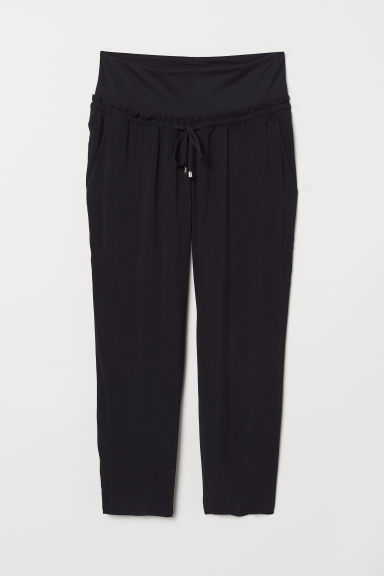 MAMA Wide-leg Pants - Black - Ladies | H&M CA