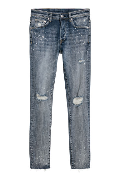 Skinny Trashed Jeans - Light denim blue - Men | H&M