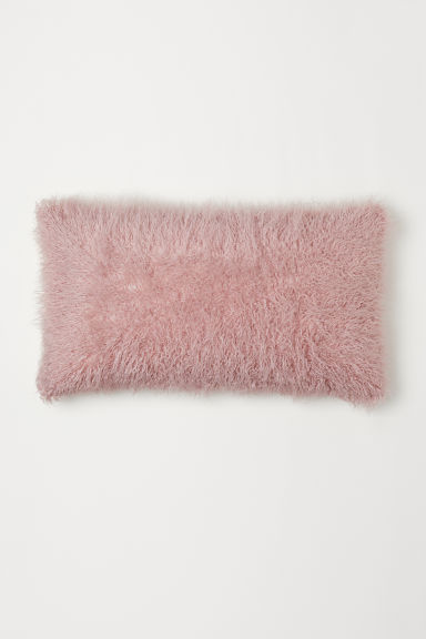 Faux fur cushion cover - Light pink - Home All | H&M CN