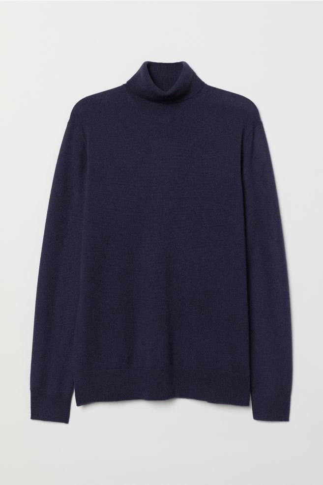 676a93222 Cashmere Turtleneck Sweater - Dark blue - Men